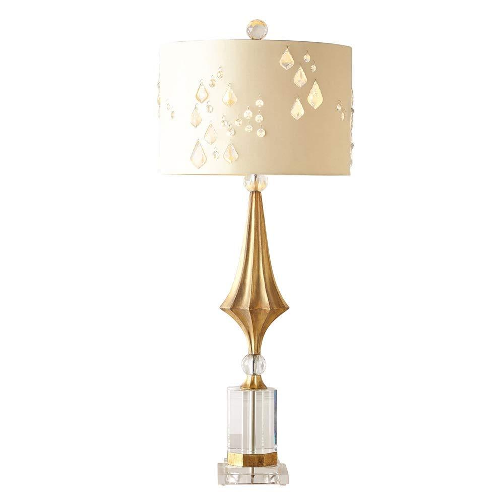 家具の照明, アメリカのクリエイティブアートベッドサイドランプ ファブリッククリスタルランプシェード 家具の照明,、リビングルームスタディホームデコレーションクラブ用クリエイティブガラスベースの寝室のテーブルランプ、E27、押しボタンスイッチ B07Q3PTPWM、230V B07Q3PTPWM, SOURCE:ee769bb5 --- m2cweb.com