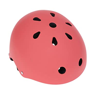BESPORTBLE Skateboard Helmet Safety Bicycle Racing Helmet Head Protector for Adult Kids Youth Skating Balance Bike Wheelbarrow S 49-53cm Red : Sports & Outdoors