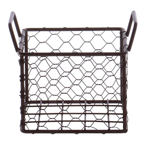 Small Wire Bread Basket Brown 5