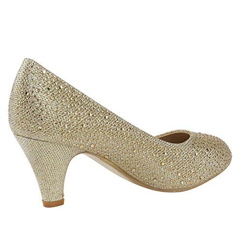 fashion Gold Cerrado Mujer Strass Napoli 17Swwq4