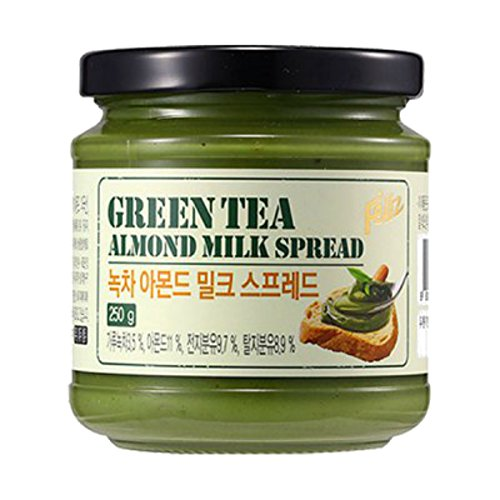 Feliz Original Organic Matcha Green Tea Almond Milk Spread 250g for Breakfast Deep & Rich (Mini Milk Chocolate Bottle)