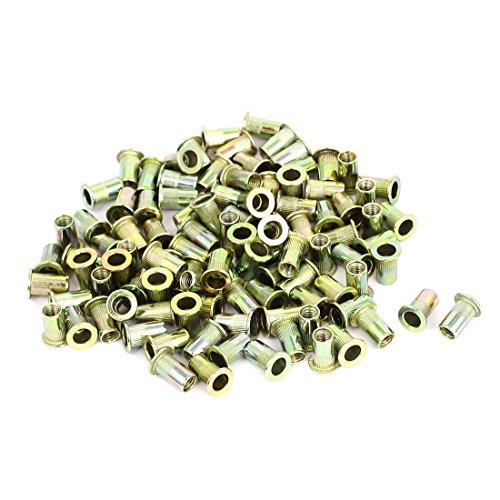 uxcell 100 Pcs M5 Threaded Countersunk Head Knurled Blind Rivet Nuts Nutserts