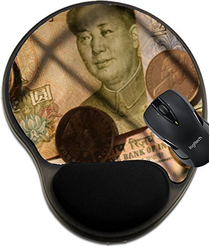 MSD Mousepad wrist protected Mouse Pads/Mat with wrist support design 36306453 COINS ECONOMY AND - Shipping Economy Tracking