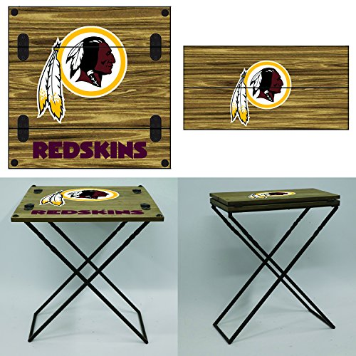 Team Sports America NFL Folding Armchair Table Washington Redskins