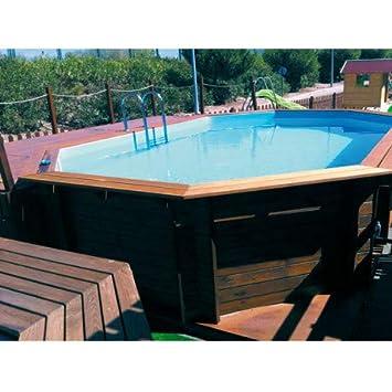 K2O - Piscina de Madera 643 x 410 x 130 cm + depuradora de Arena: Amazon.es: Juguetes y juegos