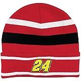 Jeff Gordon NASCAR Knit Beanie Hat Red