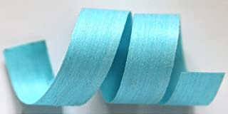 "product image for 100% Biodegradable Natural Ribbon | 33 Solid Colors | Ribbon for Crafts | Cotton Curling Ribbon | Holiday Ribbon | Wrapping Ribbon | Eco-Friendly Ribbon (Aqua, 1/2"" x 100 Yards)"