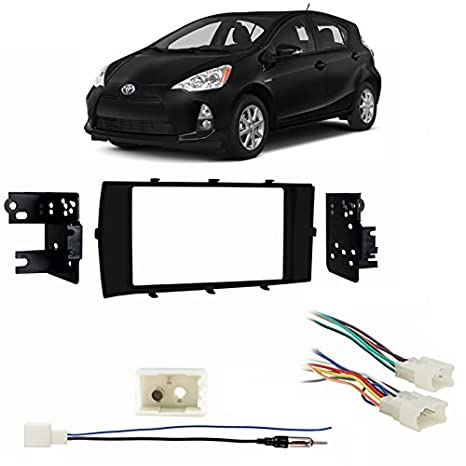 Toyota Prius C 2012-2017 Double DIN Stereo Harness Radio Install Dash Kit