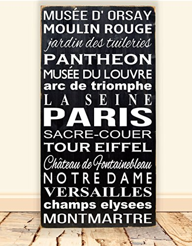 Paris Themed Subway Art Bus Scroll Sign 18