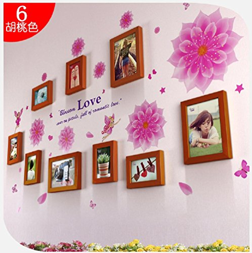 famous-wall-stickers-love-full-house-9-box-mix-and-match-pink-elf-creative-combination-wall-mounted-