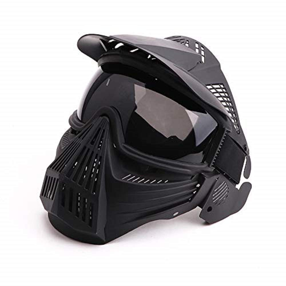 Anyoupin Paintball Mask, Airsoft Mask Full Face with Goggles Impact Resistant for Airsoft BB Hunting CS Game Paintball and Other Outdoor Activities Black-Gray-Lens by Anyoupin