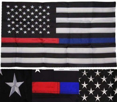 They can be used indoors or outdoors.3x5 Embroidered USA Thi