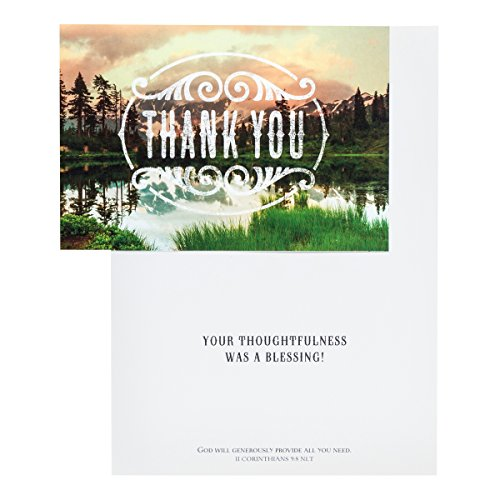 DaySpring Thank You Boxed Greeting Cards w Embossed Envelopes - God is Good, 12 Count (45608) Photo #6