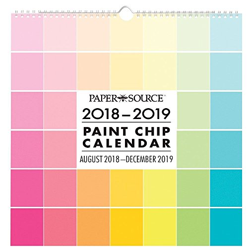 2019 Paint Chip 2019 Wall Calendar, Modern | Pop Art by Waste Not Paper