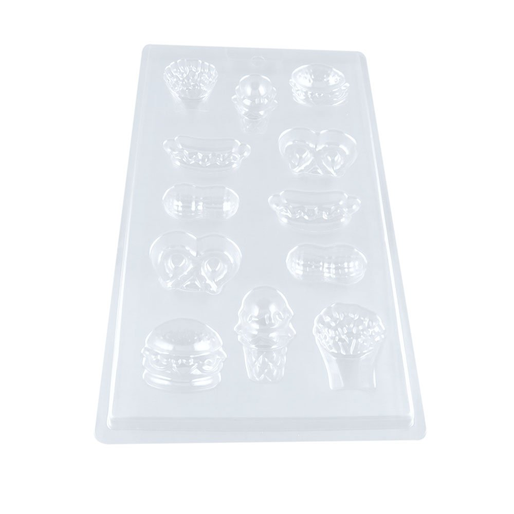 100 PCS Chocolate Molds Baby Shower Candy Making Supplies Jelly Maker Wholesale QW012 Food Icesreem Hamburger