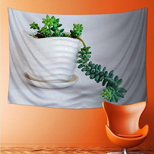 L-QN Wall Decor Tapestries jade pendant Tapestry Coverlet Curtain 93W x 70L Inch