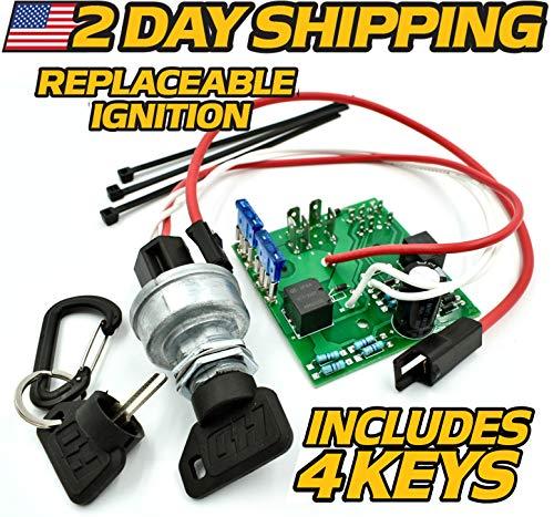John Deere Starter Ignition Switch Module AM124137 - OEM Upgrade - w/2 Premium Soft-Grip Protective Keys & Standard Keys - HD Switch
