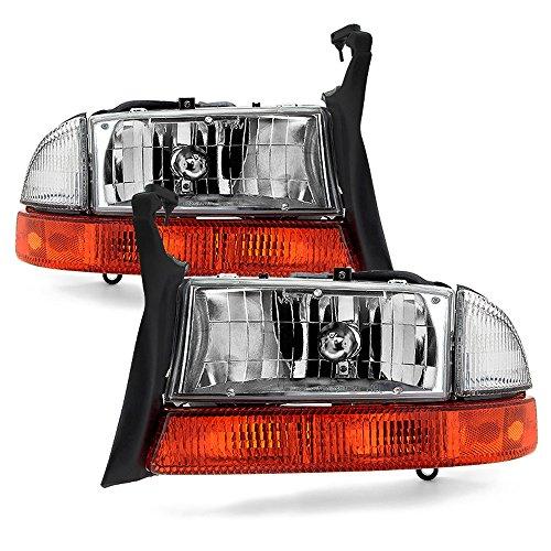 ACANII - For 1997-2004 Dakota Durango Headlights Headlamps+Signal Marker Lamps Driver + Passenger Side