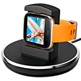 For Fitbit Versa Charger, EPULY for Fitbit Versa Accessories Women Men Charging Stand Charger Station Holder Cradle TPU Protective Hook with 3 Ft Charging USB Cable for Fitbit Versa Smartwatch Blazk