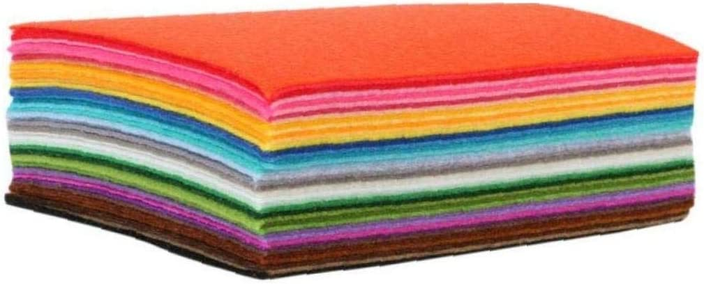 DIY Polyester Stiff Felt Fabric Squares Sheets Assorted Colors for Crafts 1mm Thick 40pcs 10cm*15cm