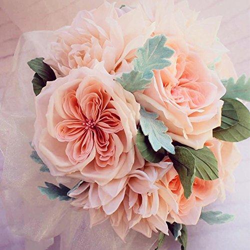 Bouquet Sposa In Inglese.Bouquet Da Sposa Con Rose Inglesi E Dahlie Amazon It Handmade
