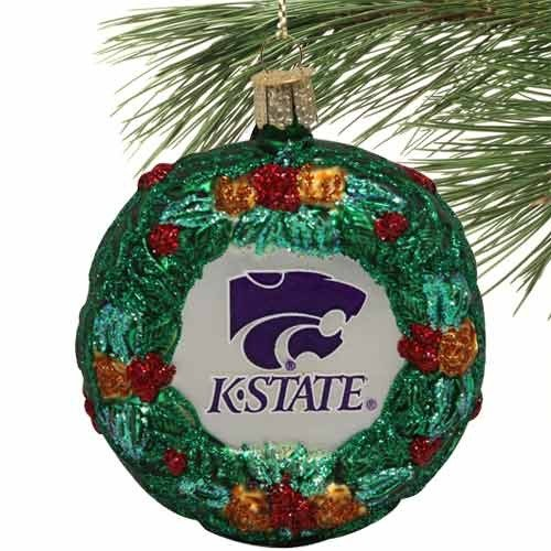 - NCAA Kansas State Wildcats Glass Wreath Ornament