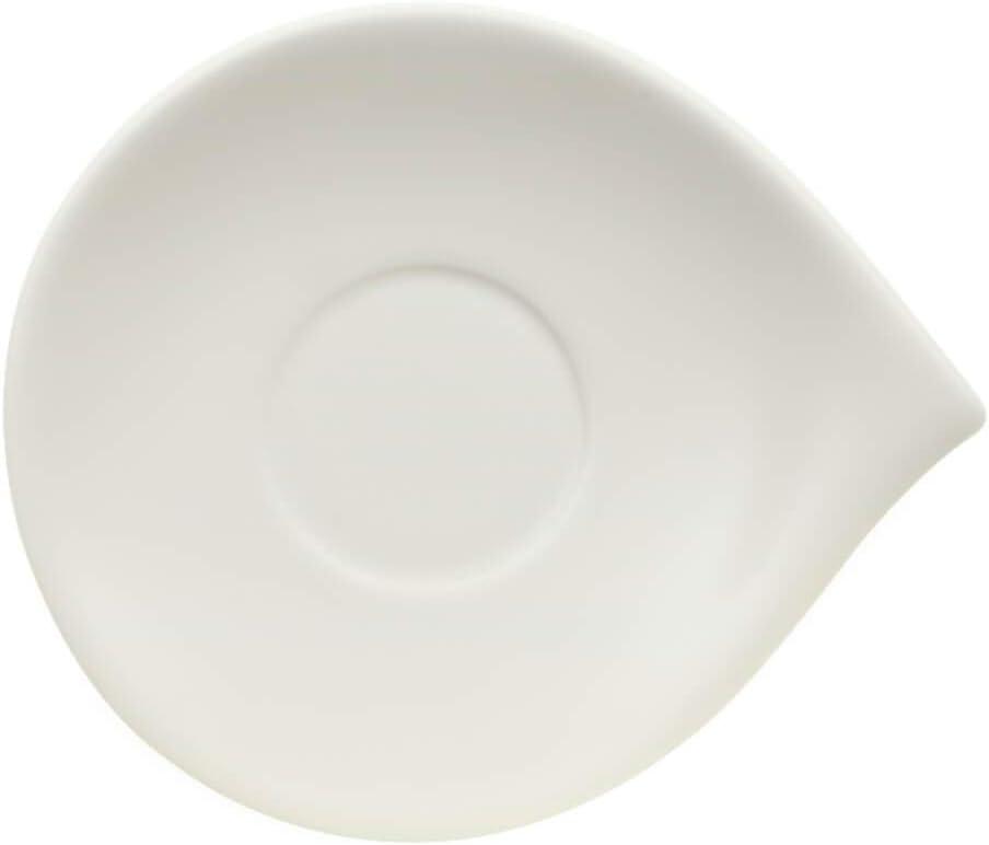 Villeroy /& Boch Flow Saucer White 21 x 18 cm Premium Porcelain