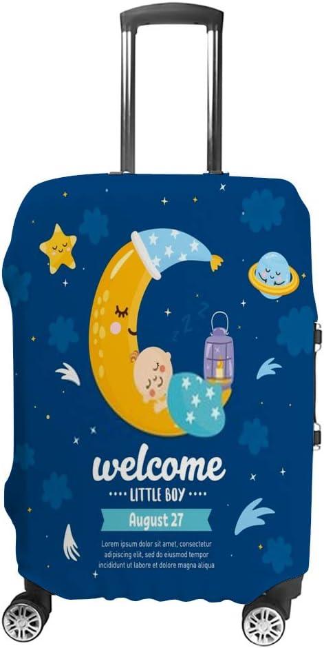 Funda Protectora para Maleta de Viaje de Chehong, para Equipaje de 19 a 32 Pulgadas, Funda Protectora mágica para niños, ilustración con Luna y bebé