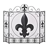 Koehler Home Decor Fleur-De-Lis Fireplace Screen