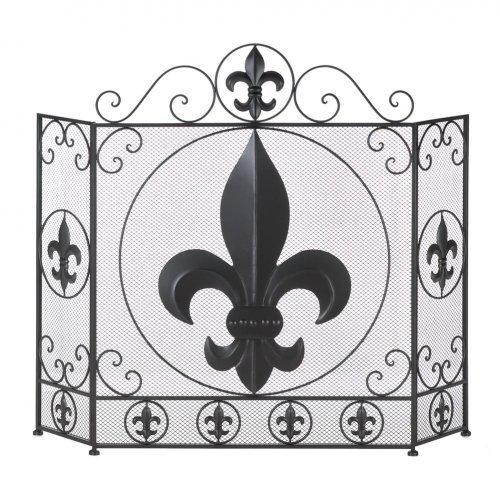 Koehler Home Decor Fleur-De-Lis Fireplace Screen