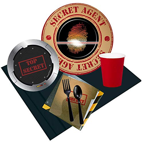 BirthdayExpress Top Secret Spy 24 Guest Party -