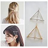 Minimalist Dainty Gold Silver Hollow Triangle Geometric Metal Hairpin Hair Clip Clamps Accessories Barrettes Bobby Pin Ponytail Holder Statement Women's GIFT Headwear Headdress Styling Jewelry