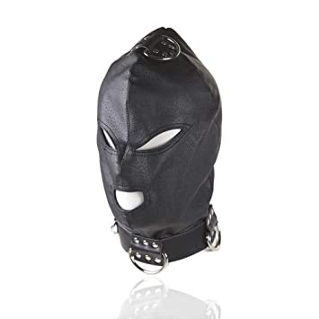 LWYJ Cuero Completo Cara Cubierta Transpirable máscara ...