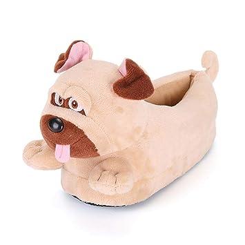 per Pantuflas Invierno Niños de Dibujo Animados Zapatillas de Estar por Casa Infantiles Zapatos de Felpa Creativos para Casa: Amazon.es: Hogar