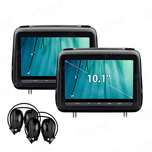 Digital Screen Touch Panel Leather Cover Car Headrest DVD Player 1080P Video with HDMI Port IR Headphones (1080p Full Hd Panels)