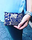 Coin Purse Blue Metallic Gold, Ladies Coin Purse, Small Coin Purse, Coin Pouch, Zipper Pouch