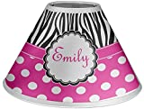 RNK Shops Zebra Print & Polka Dots Coolie Lamp Shade (Personalized)