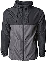 bde12ea85be4 Global Men s Hooded Lightweight Windbreaker Winter Jacket Water Resistant  Shell