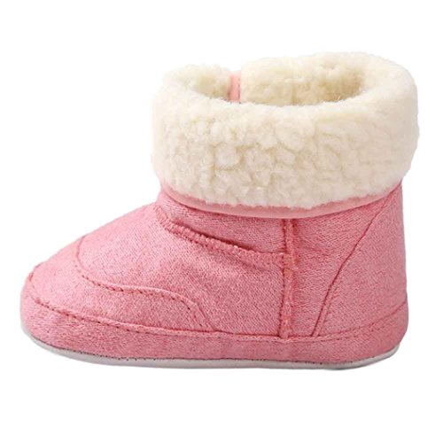 GBSELL New Casual Baby Toddler Winter Warm Sole Snow Boots Soft Crib Shoes (Pink, 6~12 Month)