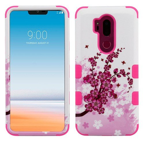 Wydan Case for LG G7 ThinQ - Tuff Hybrid Shockproof Case Protective Heavy Duty Phone Cover - Cherry Blossom