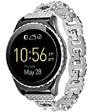 Lwsengme 22mm Stainless Steel Bands for Women, Quick Release Bracelets for Samsung Gear S3 Classic