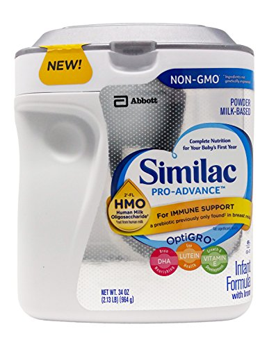 Similac Pro Advance Non-GMO Powder Infant Formula with Iron with 2'-FL HMO for Immune Support 34 oz. Plus Free Bonus 1 Pack of Disposable Baby Bibs and 1 Baby Washcloth. -  Abbott