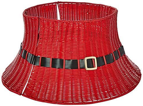 Shadloo Industrial RED Wicker Tree/Collar (Christmas Basket Stand Tree)