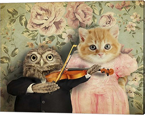 The Owl And The Pussycat by J Hovenstine Studios Canvas Art Wall Picture, Gallery