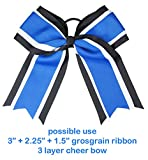 "HipGirl Boutique 3 Inch Wide Grosgrain Ribbon. Perfect for Cheerleader Hair Bows. (20yd 3"" Grosgrain Ribbon--White)"