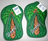 Hawaii Style Hard Floor Cleaning Slippers - FLOOR BUDDY - Palm Tree- One (1) Pair