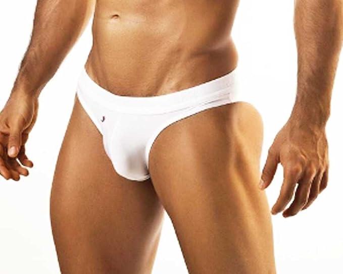 Bikini brillante para hombre Joe Snyder Ela 15 blanco blanco Small