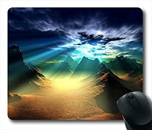 Valley Shine Oblong Shaped Mouse Pad