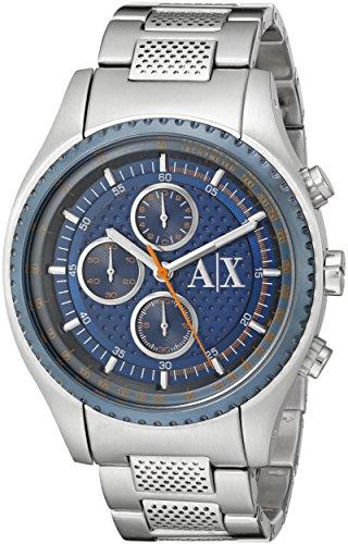 Armani Exchange Men's AX1607 Analog Display Analog Quartz Silver Watch -
