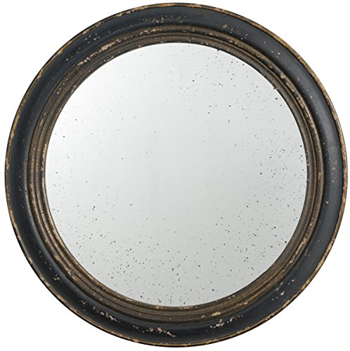A&B Home 32263-BLAC French Chic Vintage Round Wall Mirror